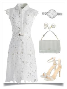"""""""branco"""" by ebramos ❤ liked on Polyvore featuring Chicwish, DKNY, Allurez and Kate Spade"""
