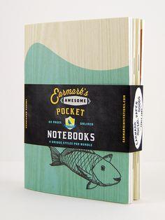 Sketched Notebook 4 Pack, Earmark Social #sketch #notebook #handmade #madeinusa