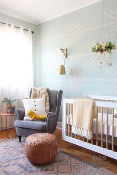 pastel nursery inspiration - these color combinations feel warm and inviting and can work for a baby boy or a baby girl. Gender neutral kids room decor that just works. Kids Room Design, Nursery Design, Baby Design, Nursery Layout, Designer Baby, Girl Nursery, Girl Room, Boho Nursery, Nursery Room
