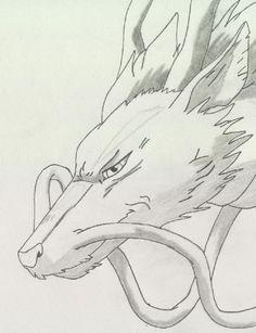 Haku Dragon by Sanx - My most beautiful tattoo list Anime Drawings Sketches, Anime Sketch, Disney Drawings, Cute Drawings, Anime Character Drawing, Manga Drawing, Pastell Wallpaper, Personajes Studio Ghibli, Studio Ghibli Characters