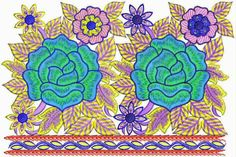 Massiewe Floral konsep Kant Border