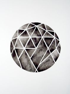 Cutting Diamonds - Original Watercolour by Geometric Ink