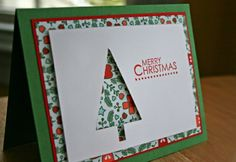 Weihnachtskarten Stampin up for Christmas Christmas card-craft-fir-tree If you have been interested Christmas Card Crafts, Homemade Christmas Cards, Christmas Cards To Make, Homemade Cards, Christmas Christmas, Scrapbook Christmas Cards, Minimal Christmas, Natural Christmas, Holiday Crafts