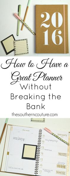 Having a functional and organized planner that works for you and your family doesn't have to cost a fortune. You can make a more affordable one work too with these life-changing tips from thesoutherncouture.com.