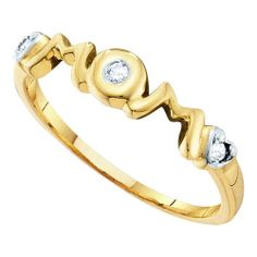 Gorgeous Diamond Accent MOM Ring 10k Yellow by BuccaneerTrading, $120.00