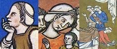 medieval women's caps and the cap of St. Birgitta (a Swedish saint of the 14th century)