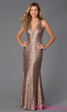 Prom Dresses, Celebrity Dresses, Sexy Evening Gowns: Floor Length Sleeveless Sequin Dress