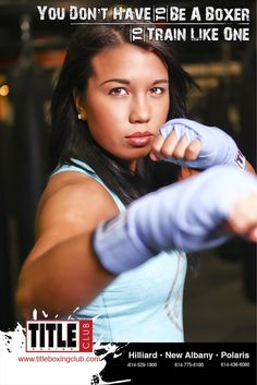 Awesome pic of member @abbeyswihart in a TITLE Boxing Club ad! #TITLEfanpics