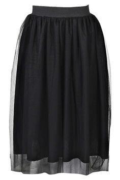 Mae Mesh Overlay Midi Skirt alternative image