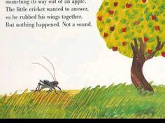 the Very Quiet Cricket book reading on video Kindergarten Art Projects, Kindergarten Books, Preschool Books, Book Activities, Read Aloud Books, Children's Books, Books To Read Online, Reading Online, The Very Quiet Cricket