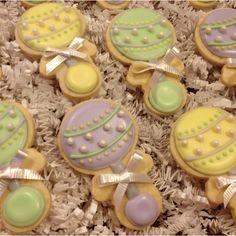 Baby shower cookies by Sara Belle's Bakery.