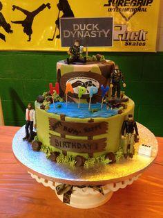 Happy Birthday Dustin Camo Cake