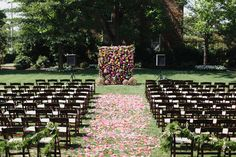 Merrimon Wynne House Wedding - Wedding Ceremony Decor - Brett & Jessica Photography - NC Wedding Planner Orangerie Events