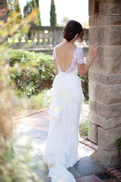 Open back wedding dress on Chriselle