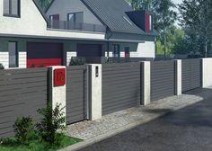 Ogrodzenie core (Kimden: Nive) Core, Garage Doors, Architecture, Outdoor Decor, Modern, Home Decor, Arquitetura, Homemade Home Decor, Trendy Tree