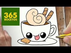 COMO DIBUJAR CAFE KAWAII PASO A PASO - Dibujos kawaii faciles - How to draw a COFFEE - YouTube