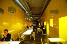 YELLOW - Asian-Fusion - try the green tea tiramisu! Hostel, Places To Eat, Restaurant Bar, Tiramisu, Restaurants, Lunch, Asian, Tea, Drink