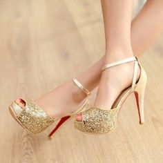 Online Shop 2014 new Sexy thin heel High Heel women pumps black/gold/silver peep toe red bottom Shoes sexy woman sandals wedding shoes Aliexpress Mobile