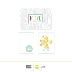 """No Regrets- Digital Download FREE!  Download includes: * 1-page designer template (8-1/2"""" x 11"""")   Features: * Digital exclusive * Perfect fit for our divided page protectors * Fun divided pages to add a little pizzazz to your pages"""