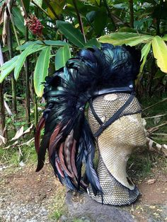 Wear with no hair   Customizable Feather Mohawk / Headdress