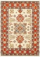 Fine hand-knotted Indian rugs with strong Persian influenced designs. Field Color: Cream, Dark Orange - Border Color: Cream, Dark Brown, Dark Orange, Khaki - Knots Per Square Inch: 90