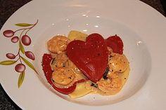 Pasta mit Garnelen-Sahne-Soße