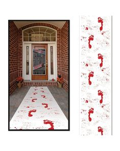 Halloween BLOODY FOOTPRINTS floor RUNNER Party Decoration WALKING DEAD Zombie #Halloween