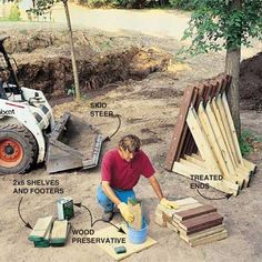 How to Build a Treated-Wood Retaining Wall                                                                                                                                                                                 More