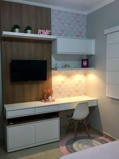 √ 21 Most Popular Study Table Designs and Childrens Chairs Today. Study Table Designs, Study Room Design, Grey Bedroom Furniture, Home Furniture, Bedroom Decor, Bedroom Ideas, Home Office Design, House Design, Office Designs
