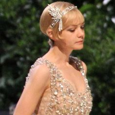 Great Gatsby wedding hair piece inspiration