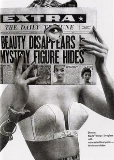 Vintage Ads Maidenform advertisement, 1954. S) Beauty Disappears Mystery Figure Hides