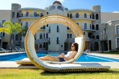 Round Spiral Two-person Lounge Chair