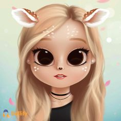 You can get it onAppStore Kawaii Girl Drawings, Cute Little Drawings, Cute Girl Drawing, Girly Drawings, Cartoon Girl Drawing, Cartoon Drawings, Cartoon Art, Cartoon Girl Images, Cute Cartoon Girl