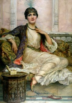 """""""The Jade Necklace"""", By ~ William Clarke Wontner ~ 1857 - 1930."""