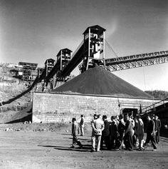 visita del entonces presidente Adolfo López Mateos en el año de 1960 a la mina del cerro del mercado