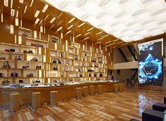 The interior of Aoki's Vuitton store in Omotesando