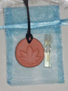 MARIJUANA LEAF Diffuser Necklace - *Pot Leaf Pendant - *Terracotta Diffuser - *Aromatherapy Necklace - Essential Oil Diffuser - Hemp Jewelry Aromatherapy Jewelry, Aromatherapy Oils, Hemp Jewelry, Unique Jewelry, Essential Oil Diffuser, Essential Oils, Marijuana Leaves, Diffuser Necklace, Leaf Pendant