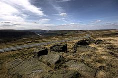 Saddleworth Moor  the moor can be so bleak in winter and is quite foreboding