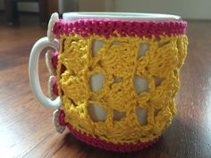 Een leuke jas voor je beker. Hiermee houd je je koffie en thee zeker warm.