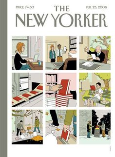 ADRIAN TOMINE - Shelf Life The New Yorker, February 25, 2008