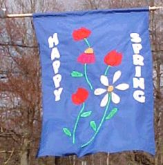 Welcome Spring! Free Yard Flag Pattern: Getting Started