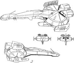 A fleet of space pirates use these as their main ships in the Dirty Pair TV series. Description from gearsonline.net. I searched for this on bing.com/images