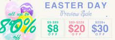 #Shoespie Mobile Site #Easter #Day Promotion all up to 85% off $9-$189 12%off, $189+ 15%off. Valid 4/11 to 4/17