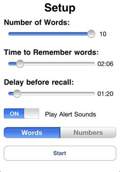 Memory Practice ($4.99) Memory Practice, or Memory Aid for short, is an application that helps develop your memory.  This app is a computerized duplicate of a simple memory drill.
