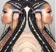 African usual hairstyles Cute Fulani braids are in trend. We bring you this latest inspirational fulani braids that you will adore to wear. African Braids Hairstyles, Braided Hairstyles, Hairstyles 2016, Hairstyle Braid, Trendy Hairstyles, Braided Mohawk, Short Haircuts, Wedding Hairstyles, Curly Hair Styles