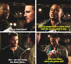 Baby in the foundry. lolllzzz Love Diggle!!! Arrow - Oliver and Diggle #3.5 #Season3