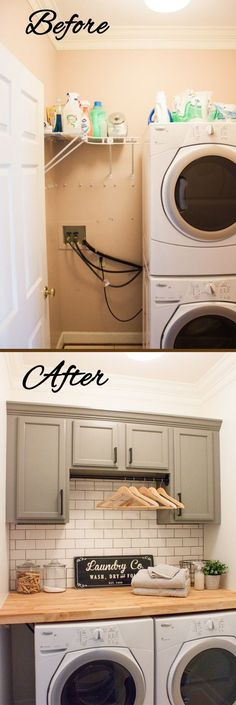 Laundry Room Ideas Before and After