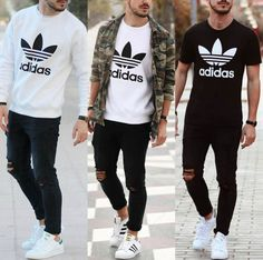 Stylish Mens Outfits, Cool Outfits, Casual Outfits, Fashion Outfits, Looks Adidas, Urban Fashion, Mens Fashion, Style Masculin, Smart Casual Men