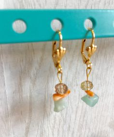 A handmade small and delicate earrings. by MioCapriccio on Etsy