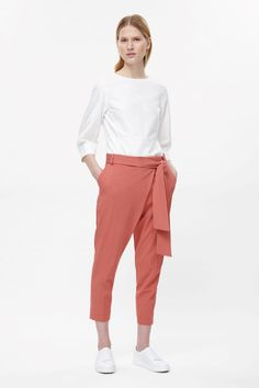 COS   Belted wrap-over trousers